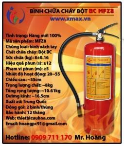 Bình chữa cháy dạng bột khô BC MFZ8 8kg loại xách tay