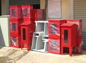 Bán cuộn vòi chữa cháy vách tường hay còn gọi là vòi rồng phun nước cứu hỏa ngoài trời và các thiết bị tủ, lăng, van góc - Bảng báo giá 2014 phần 2