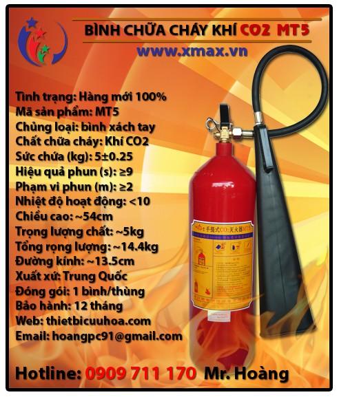 Báo giá bình chữa cháy khí lạnh CO2 MT3 3kg, MT5 5kg, MT24 24kg kèm dịch vụ bảo dưỡng phụ kiện thiết bị cứu hỏa uy tín 2