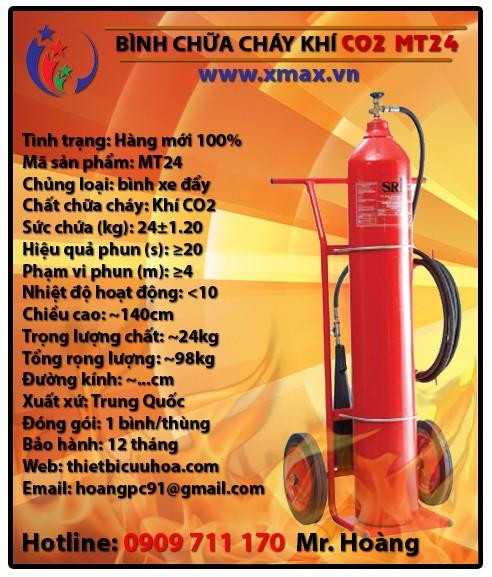Báo giá bình chữa cháy khí lạnh CO2 MT3 3kg, MT5 5kg, MT24 24kg kèm dịch vụ bảo dưỡng phụ kiện thiết bị cứu hỏa uy tín 3