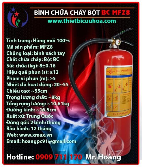 Báo giá thiết bị bình cứu hỏa bột khô BC MFZ4 4kg, MFZ8 8kg, MFZ35 35kg chữa cháy hiệu quả cho gia đình, nhà xưởng, công trình công ty 2