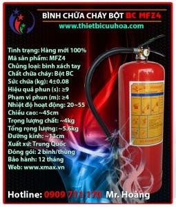 Cung cấp bình chữa cháy chủng loại bột khô BC MFZ 4kg, 8kg, 35kg, bình cứu hỏa khí lạnh CO2 MT 3kg, 5kg giá rẻ phần 1