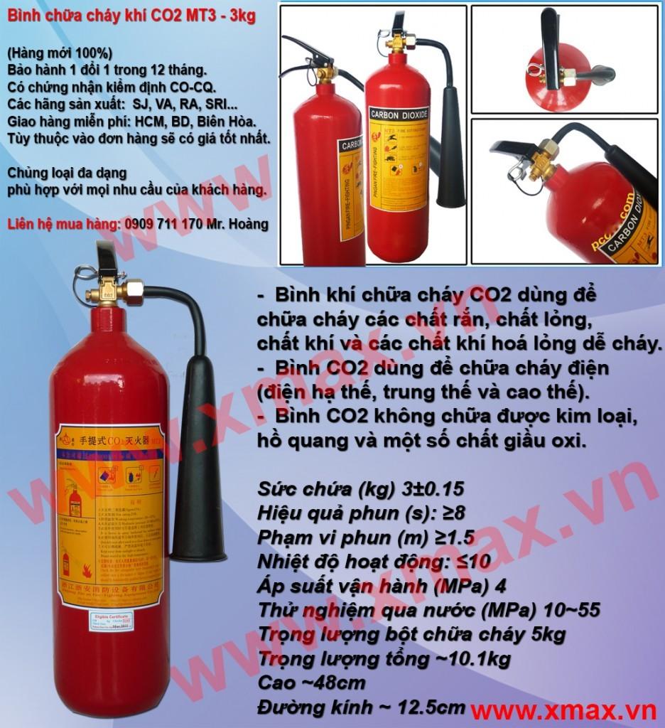 Cung cấp bình chữa cháy chủng loại bột khô BC MFZ 4kg, 8kg, 35kg, bình cứu hỏa khí lạnh CO2 MT 3kg, 5kg giá rẻ phần 3