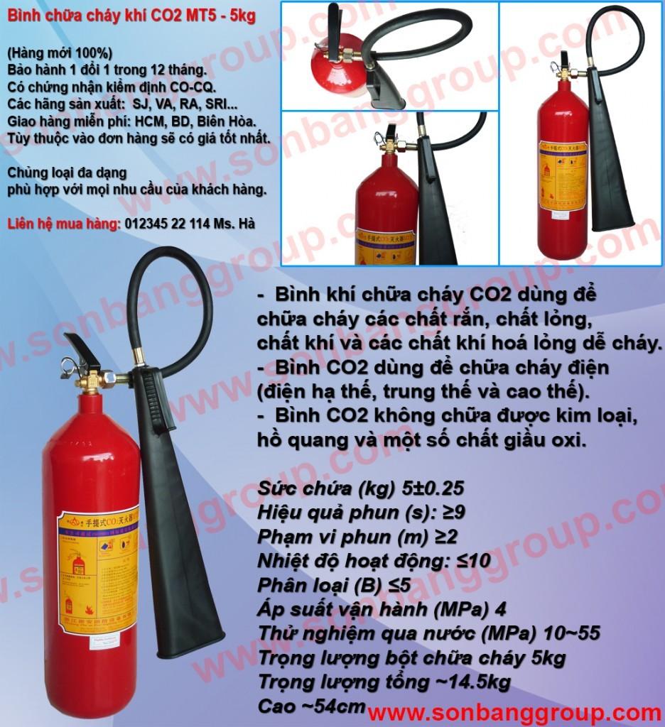 Cung cấp bình chữa cháy chủng loại bột khô BC MFZ 4kg, 8kg, 35kg, bình cứu hỏa khí lạnh CO2 MT 3kg, 5kg giá rẻ phần 4