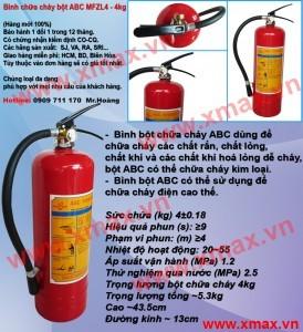 Cung cấp bình chữa cháy chủng loại bột khô BC MFZ 4kg, 8kg, 35kg, bình cứu hỏa khí lạnh CO2 MT 3kg, 5kg giá rẻ phần 5