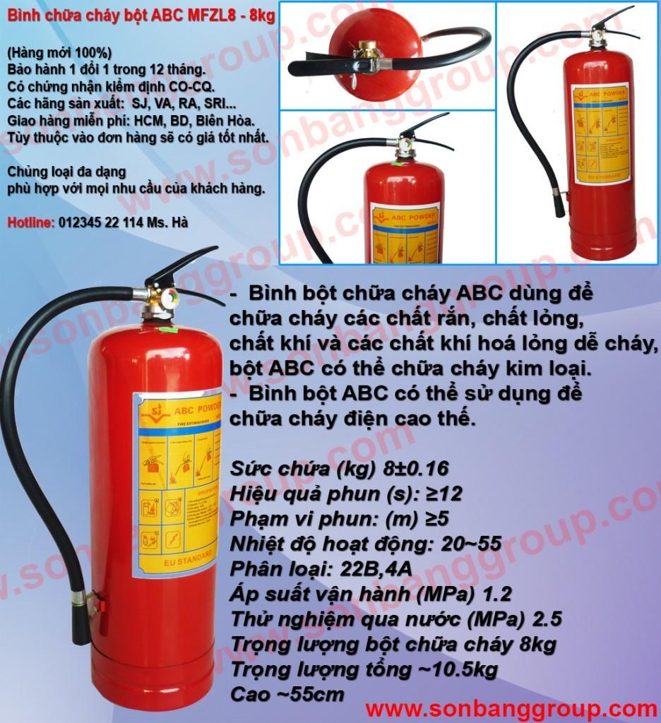 Cung cấp bình chữa cháy chủng loại bột khô BC MFZ 4kg, 8kg, 35kg, bình cứu hỏa khí lạnh CO2 MT 3kg, 5kg giá rẻ phần 6