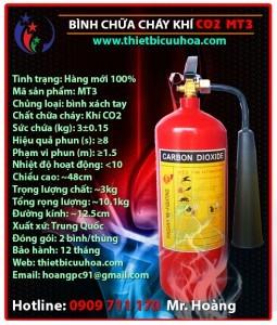 Giá bán bình chữa cháy khí lạnh CO2 các loại MT 3kg, 5kg thuộc chủng loại bình cứu hỏa cầm tay nhỏ gọn tiện lợi cho người sử dụng phần 4