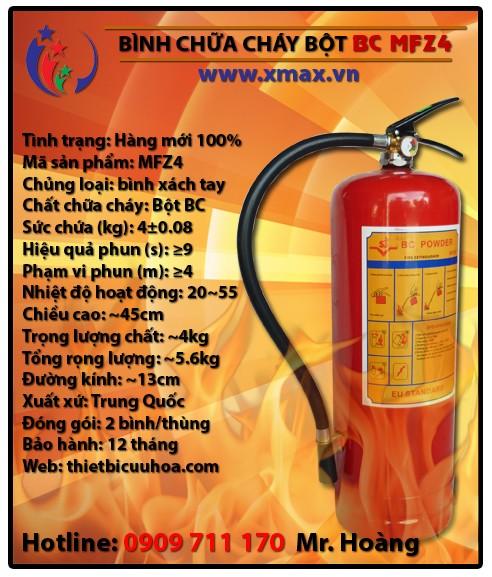 Thông tin giá cả thiết bị bình chữa cháy bột BC MFZ phục vụ an toàn PCCC cứu hỏa tại TPHCM Bình Dương 2015 1