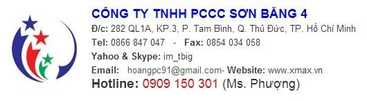 Báo giá năm 2015 - Bình chữa cháy kèm một số thiết bị cứu hỏa phục vụ an toàn pccc trong khu vực TPHCM, Bình Dương 7