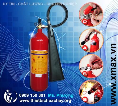 bình chữa cháy xách tay 5kg khí CO2