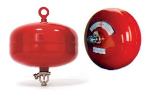 Kết quả hình ảnh cho nguyên lý hoạt động và cách sử dụng bình cầu chữa cháy tự động