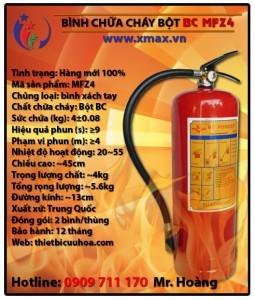 Bình chữa cháy dạng bột khô BC MFZ4 4kg loại xách tay