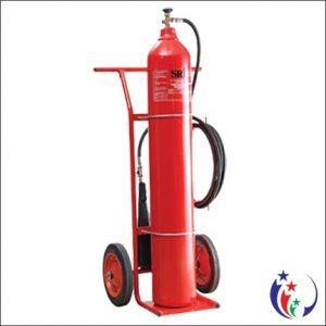 Bình chữa cháy khí lạnh CO2 MT 24kg loại xe đẩy