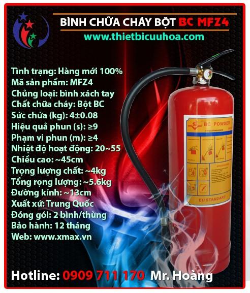 Báo giá thiết bị bình cứu hỏa bột khô BC MFZ4 4kg, MFZ8 8kg, MFZ35 35kg chữa cháy hiệu quả cho gia đình, nhà xưởng, công trình công ty 1