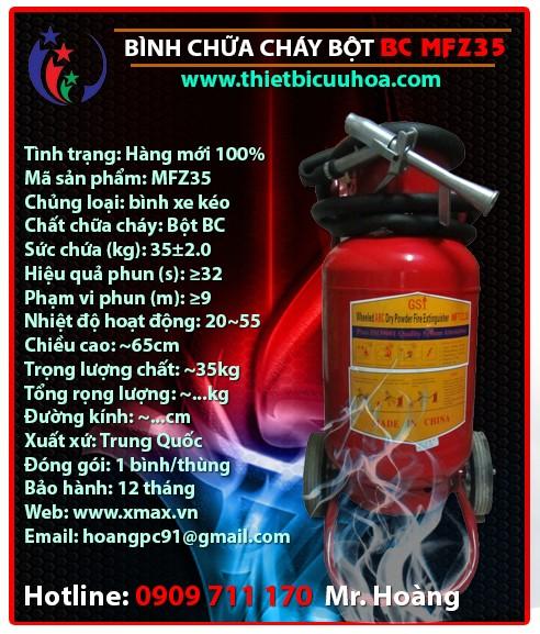Báo giá thiết bị bình cứu hỏa bột khô BC MFZ4 4kg, MFZ8 8kg, MFZ35 35kg chữa cháy hiệu quả cho gia đình, nhà xưởng, công trình công ty 3