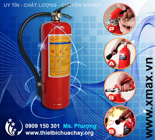 bình chữa cháy dạng bột 4kg loại nhỏ