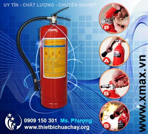 bình chữa cháy dạng bột 8kg xách tay