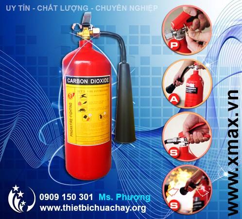 bình chữa cháy loại nhỏ 3kg khí CO2